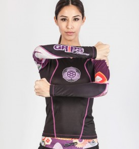 Grips Power Flower Rashguard - Black