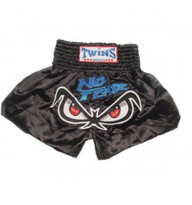 Twins No Fear Thai Boxing Shorts - Black
