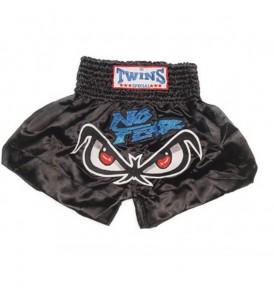 Twins No Fear Thai Boxing Shorts - Black