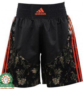 Adidas Camo Boxing Shorts - Black/Orange