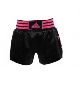 Adidas Thai Boxing Shorts - Black/Pink