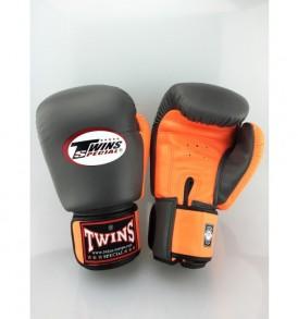 Twins BGVL 3 Thai Boxing Gloves - Grey/Orange