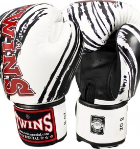 Twins Claw Boxing Gloves - White/Black