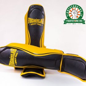 Fightlab Flo Shinguards - Black/Yellow
