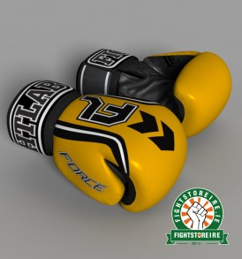 Fightlab Force Muay Thai Gloves - Yellow