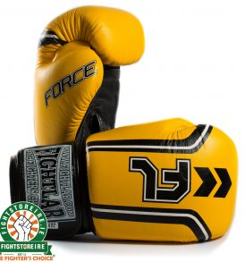 Fightlab Force Muay Thai Gloves - Yellow | Fight Store IRELAND