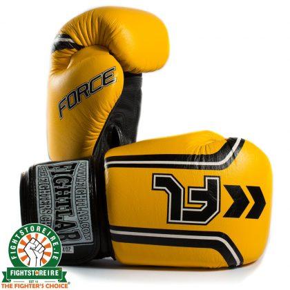 Fightlab Force Muay Thai Gloves - Yellow | Fight Store IRELAND