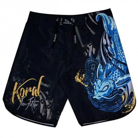 Koral Fight Life Board Shorts - Black/Blue