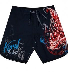 Koral-Koral Fight Life Board Shorts - Black/Red