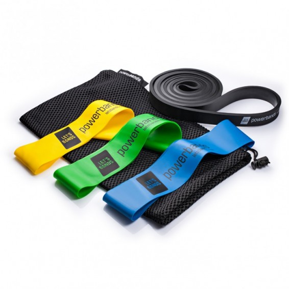 Let's Bands Power Set Max Resistance Bands - Black