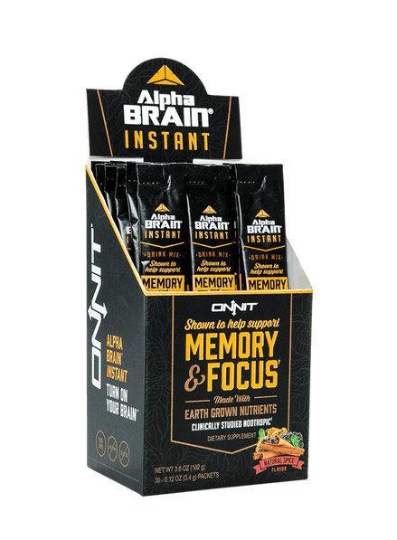Onnit Alpha Brain Instant - Natural Spice