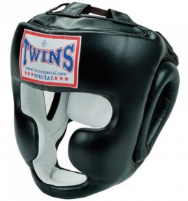 Twins Black Sparring Headguard - HGL-3
