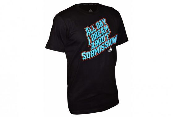 Adidas BJJ Printed T-Shirt - Black