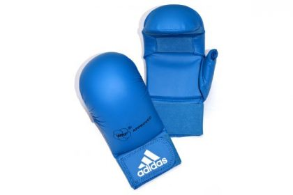 Adidas WKF Karate Mitts - Blue