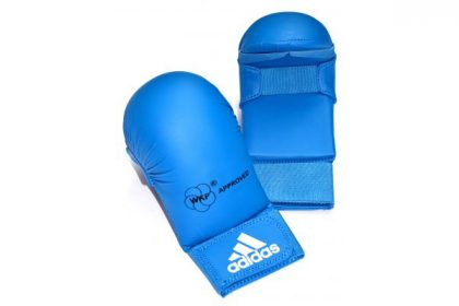 Adidas WKF Karate Mitts Without Thumb - Blue