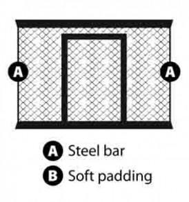 Cage Panel with Door 166 cm x 180 cm