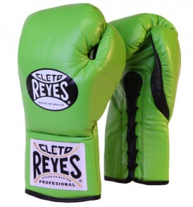 Cleto Reyes Official Boxing Gloves New Citrus Green