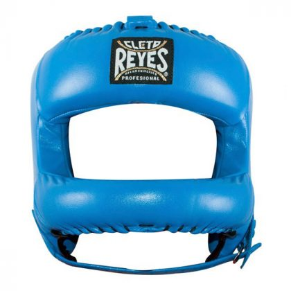 Cleto Reyes Redesigned Leather Headguard with Nylon Face Bar - Blue