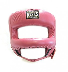 Cleto Reyes Redesigned Leather Headguard with Nylon Face Bar - Pink