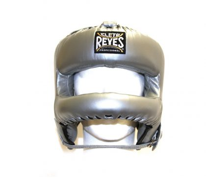 Cleto Reyes Redesigned Leather Headguard with Nylon Face Bar - Platinum