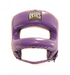 Cleto Reyes Redesigned Leather Headguard with Nylon Face Bar - Purple