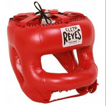 Cleto Reyes Redesigned Leather Headguard with Nylon Face Bar - Red