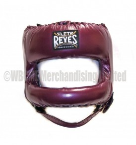 Cleto Reyes Redesigned Leather Headguard with Nylon Face Bar - Sparkling Purple