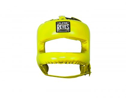 Cleto Reyes Redesigned Leather Headguard with Nylon Face Bar - Yellow