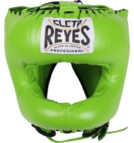 Cleto Reyes Traditional Pointed Nylon Bar Headguard - Citrus Green