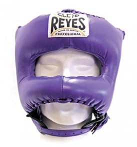 Cleto Reyes Traditional Pointed Nylon Bar Headguard - Purple