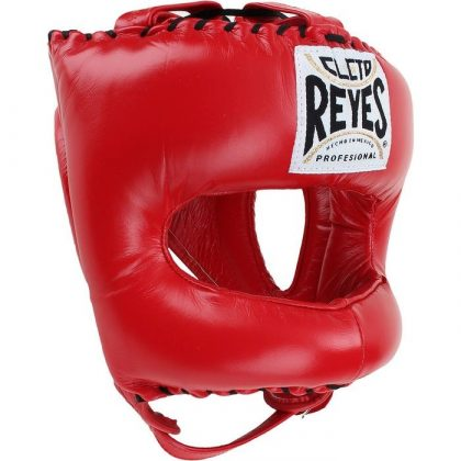 Cleto Reyes Traditional Pointed Nylon Bar Headguard - Red