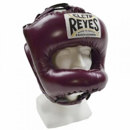 Cleto Reyes Traditional Pointed Nylon Bar Headguard - Sparkling Purple