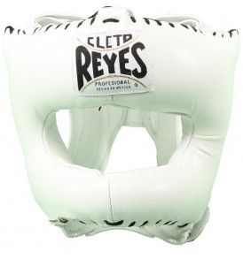 Cleto Reyes Traditional Pointed Nylon Bar Headguard - White