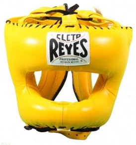 Cleto Reyes Traditional Pointed Nylon Bar Headguard - Yellow