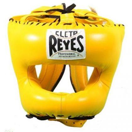 Cleto Reyes Traditional Pointed Nylon Bar Headguard - Yellow
