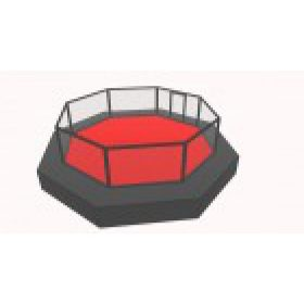 Octagon Cage 100cm Elevated from Floor 7 x 7 M + Sidewalk