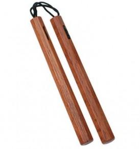 Octagonal Cord Nunchaku - Red Oak