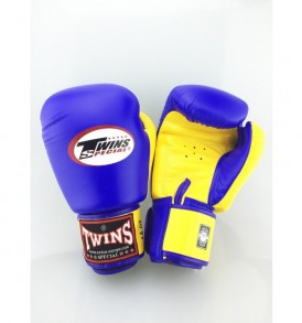 Twins BGVL 3 Thai Boxing Gloves - Blue/Yellow
