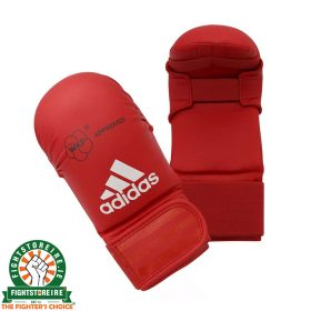 Adidas WKF Karate Mitts Without Thumb - Red
