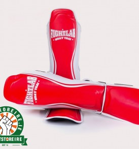 Fightlab Flo Shinguards - Red/White