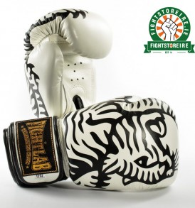 Fightlab Sak Tiger Muay Thai Gloves - Black/White
