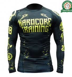 Hardcore Training 0820 Rashguard Black and Yellow