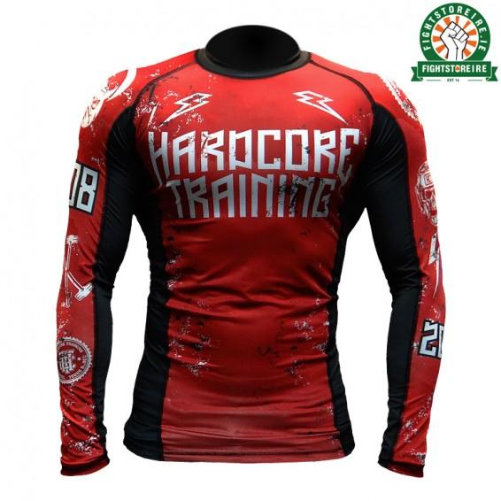 Hardcore Training 0820 Rashguard Red and Black