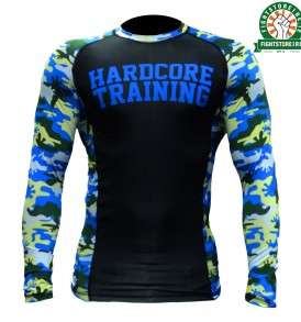 Hardcore Training Camo 2.0 Rashguard - Black and Blue