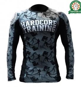 Hardcore Training Camo Fight Rashguard - Black