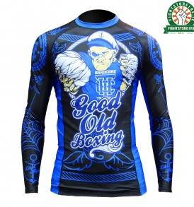 Hardcore Training Good Old Boxing Rashguard - Black/Blue