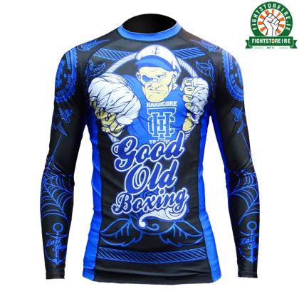 Hardcore Training Good Old Boxing Rashguard - Black/Blue