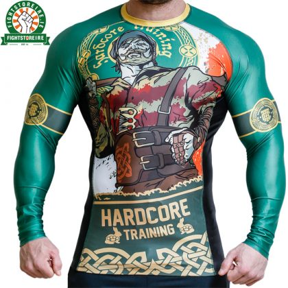 Hardcore Training Irishman Rashguard - Green