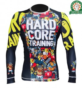 Hardcore Training Manto Doodles Rashguard - Black
