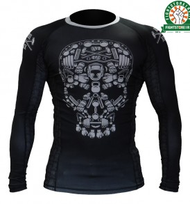Hardcore Training Skull Rashguard - Black
